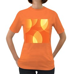 Abstract Orange Yellow Red Color Women s Dark T Shirt