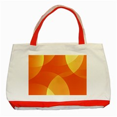 Abstract Orange Yellow Red Color Classic Tote Bag (red)