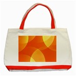 Abstract Orange Yellow Red Color Classic Tote Bag (Red) Front