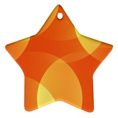 Abstract Orange Yellow Red Color Star Ornament (two Sides) by Nexatart