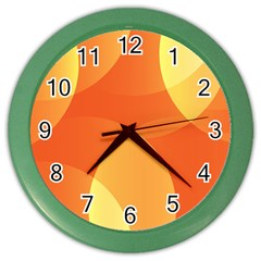 Abstract Orange Yellow Red Color Color Wall Clocks