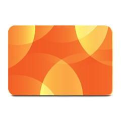 Abstract Orange Yellow Red Color Plate Mats by Nexatart