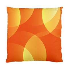 Abstract Orange Yellow Red Color Standard Cushion Case (one Side) by Nexatart