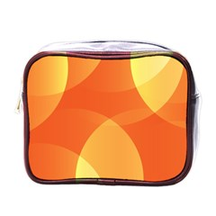 Abstract Orange Yellow Red Color Mini Toiletries Bags