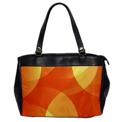 Abstract Orange Yellow Red Color Office Handbags by Nexatart