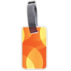 Abstract Orange Yellow Red Color Luggage Tags (one Side)  by Nexatart