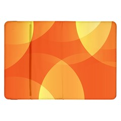 Abstract Orange Yellow Red Color Samsung Galaxy Tab 8 9  P7300 Flip Case by Nexatart