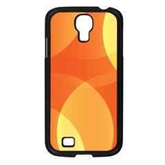 Abstract Orange Yellow Red Color Samsung Galaxy S4 I9500/ I9505 Case (black)