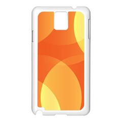 Abstract Orange Yellow Red Color Samsung Galaxy Note 3 N9005 Case (white)