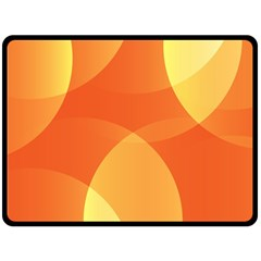 Abstract Orange Yellow Red Color Double Sided Fleece Blanket (large)  by Nexatart