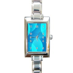 Abstract Blue Wallpaper Wave Rectangle Italian Charm Watch by Nexatart