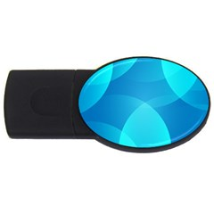 Abstract Blue Wallpaper Wave Usb Flash Drive Oval (2 Gb) by Nexatart