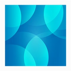 Abstract Blue Wallpaper Wave Medium Glasses Cloth (2 Side) by Nexatart