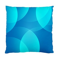 Abstract Blue Wallpaper Wave Standard Cushion Case (two Sides) by Nexatart