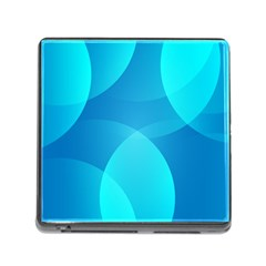 Abstract Blue Wallpaper Wave Memory Card Reader (square) by Nexatart