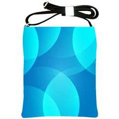Abstract Blue Wallpaper Wave Shoulder Sling Bags by Nexatart