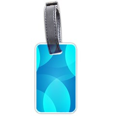 Abstract Blue Wallpaper Wave Luggage Tags (one Side)  by Nexatart