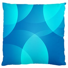 Abstract Blue Wallpaper Wave Large Cushion Case (two Sides) by Nexatart