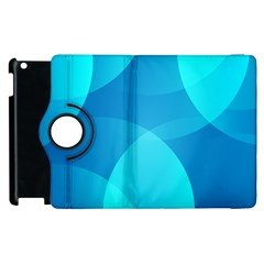 Abstract Blue Wallpaper Wave Apple Ipad 2 Flip 360 Case by Nexatart