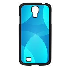 Abstract Blue Wallpaper Wave Samsung Galaxy S4 I9500/ I9505 Case (black)