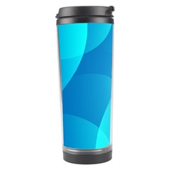 Abstract Blue Wallpaper Wave Travel Tumbler