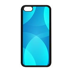 Abstract Blue Wallpaper Wave Apple Iphone 5c Seamless Case (black)
