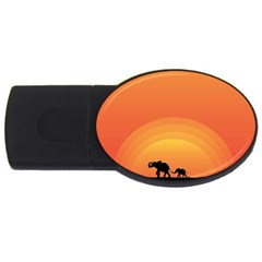 Elephant Baby Elephant Wildlife Usb Flash Drive Oval (2 Gb) by Nexatart