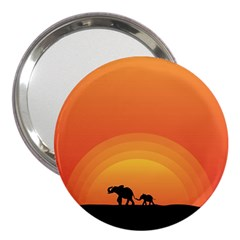Elephant Baby Elephant Wildlife 3  Handbag Mirrors by Nexatart