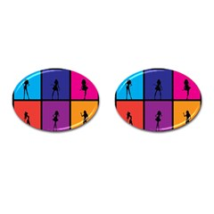 Girls Fashion Fashion Girl Young Cufflinks (oval) by Nexatart