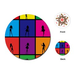 Girls Fashion Fashion Girl Young Playing Cards (round)  by Nexatart