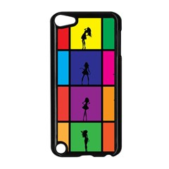 Girls Fashion Fashion Girl Young Apple Ipod Touch 5 Case (black)