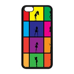 Girls Fashion Fashion Girl Young Apple Iphone 5c Seamless Case (black)