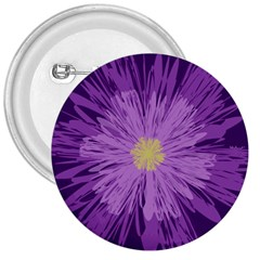 Purple Flower Floral Purple Flowers 3  Buttons by Nexatart