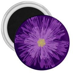 Purple Flower Floral Purple Flowers 3  Magnets