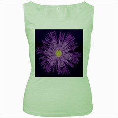 Purple Flower Floral Purple Flowers Women s Green Tank Top by Nexatart