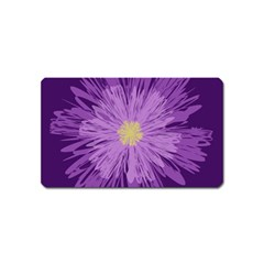Purple Flower Floral Purple Flowers Magnet (name Card) by Nexatart