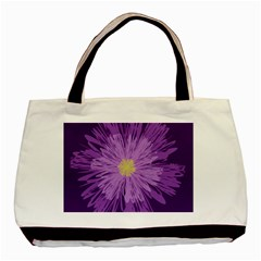 Purple Flower Floral Purple Flowers Basic Tote Bag by Nexatart