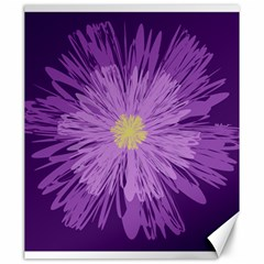 Purple Flower Floral Purple Flowers Canvas 20  X 24