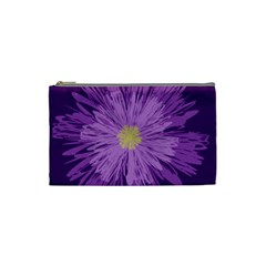 Purple Flower Floral Purple Flowers Cosmetic Bag (small)  by Nexatart