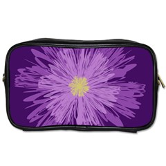 Purple Flower Floral Purple Flowers Toiletries Bags by Nexatart