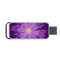 Purple Flower Floral Purple Flowers Portable Usb Flash (one Side) by Nexatart