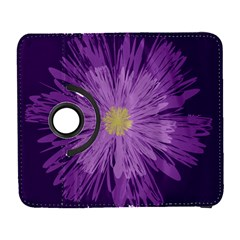 Purple Flower Floral Purple Flowers Galaxy S3 (flip/folio) by Nexatart