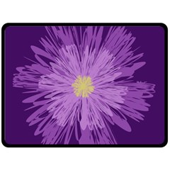 Purple Flower Floral Purple Flowers Double Sided Fleece Blanket (large)  by Nexatart