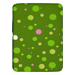 Decorative Dots Pattern Samsung Galaxy Tab 3 (10 1 ) P5200 Hardshell Case  by ValentinaDesign