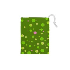 Decorative Dots Pattern Drawstring Pouches (xs)  by ValentinaDesign