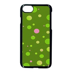 Decorative Dots Pattern Apple Iphone 7 Seamless Case (black) by ValentinaDesign