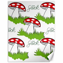 Mushroom Luck Fly Agaric Lucky Guy Canvas 18  X 24   by Nexatart