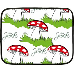 Mushroom Luck Fly Agaric Lucky Guy Double Sided Fleece Blanket (mini)
