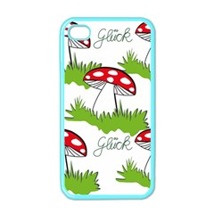 Mushroom Luck Fly Agaric Lucky Guy Apple Iphone 4 Case (color) by Nexatart