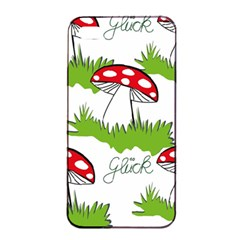Mushroom Luck Fly Agaric Lucky Guy Apple Iphone 4/4s Seamless Case (black) by Nexatart